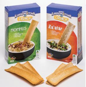 2 boxes of lavosh crunch range crackers