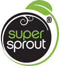 Super Sprout Logo in Green and Black Coloring