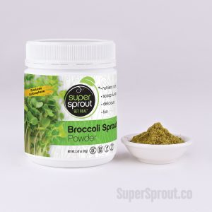 Container of Broccoli Powder