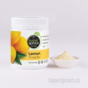 Lemon Powder -100% Pure. Concentrated. Add to taste. Being 'wholesfood' this product includes not only the fibre, but also the rind. The entire fruit.