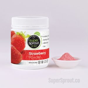 Container of Strawberry Powder