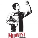 Man holding up a glass of beer