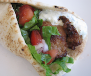 greek souvlaki wrap