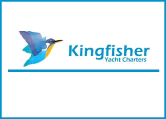 image of kingfish next to the name kingfisher yacht tours