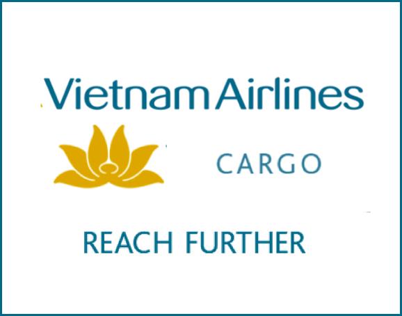 the worlds vietnam airines next to their yellow emblem