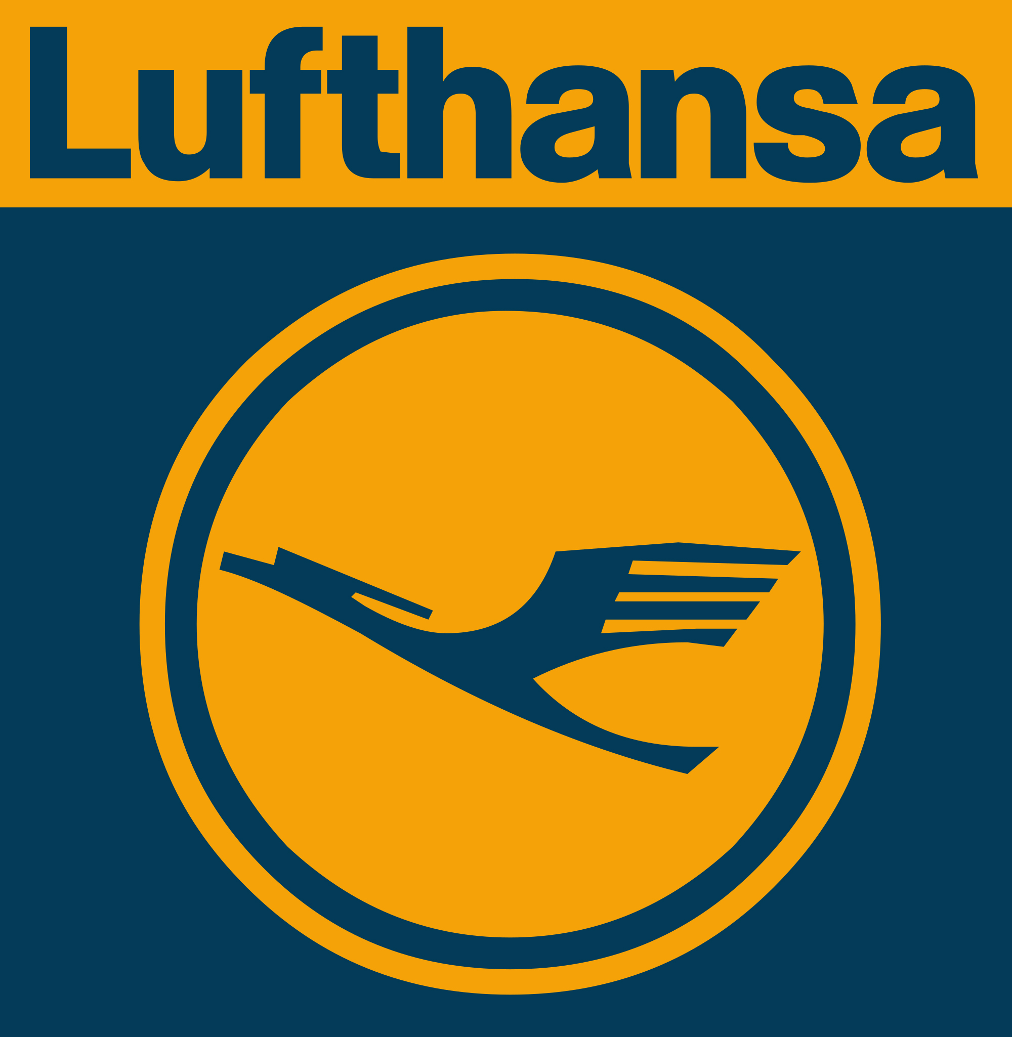 Lufthansa Airlines Logo in a cirlce
