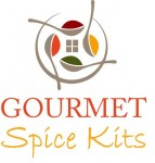 Colorful logo for gourmet spice kits