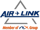 The Words AIrl Link with a small aircraft betewwen