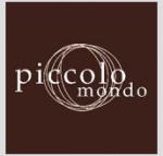 Picolo Mondo Logo in Brown Background