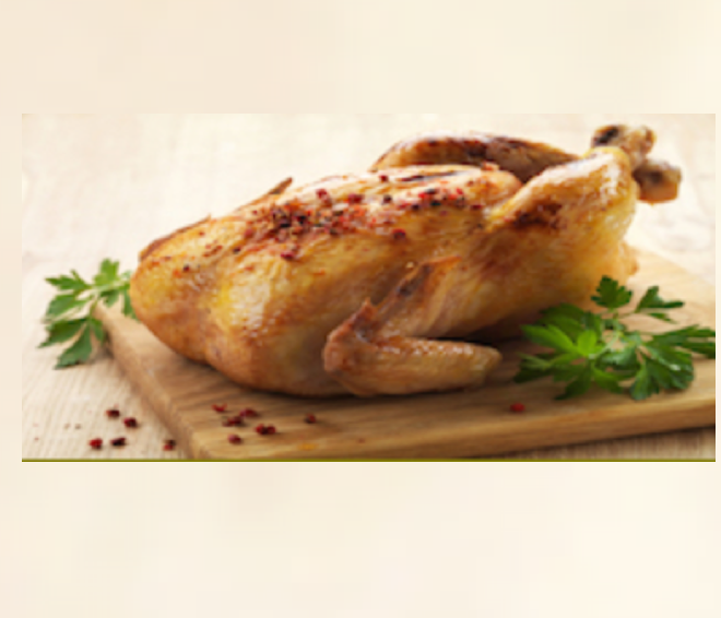 Image of a roasted chicken