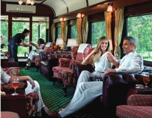 People Enjoying a rail journey